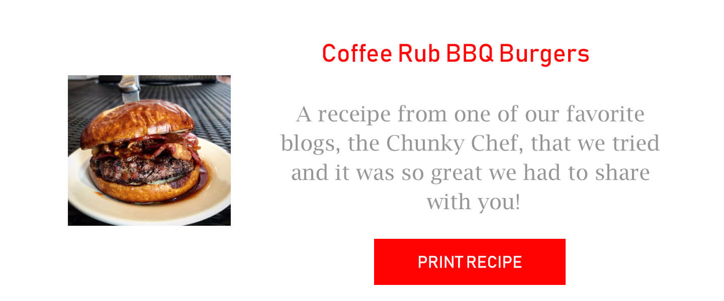 Coffee Rubbed Burgers