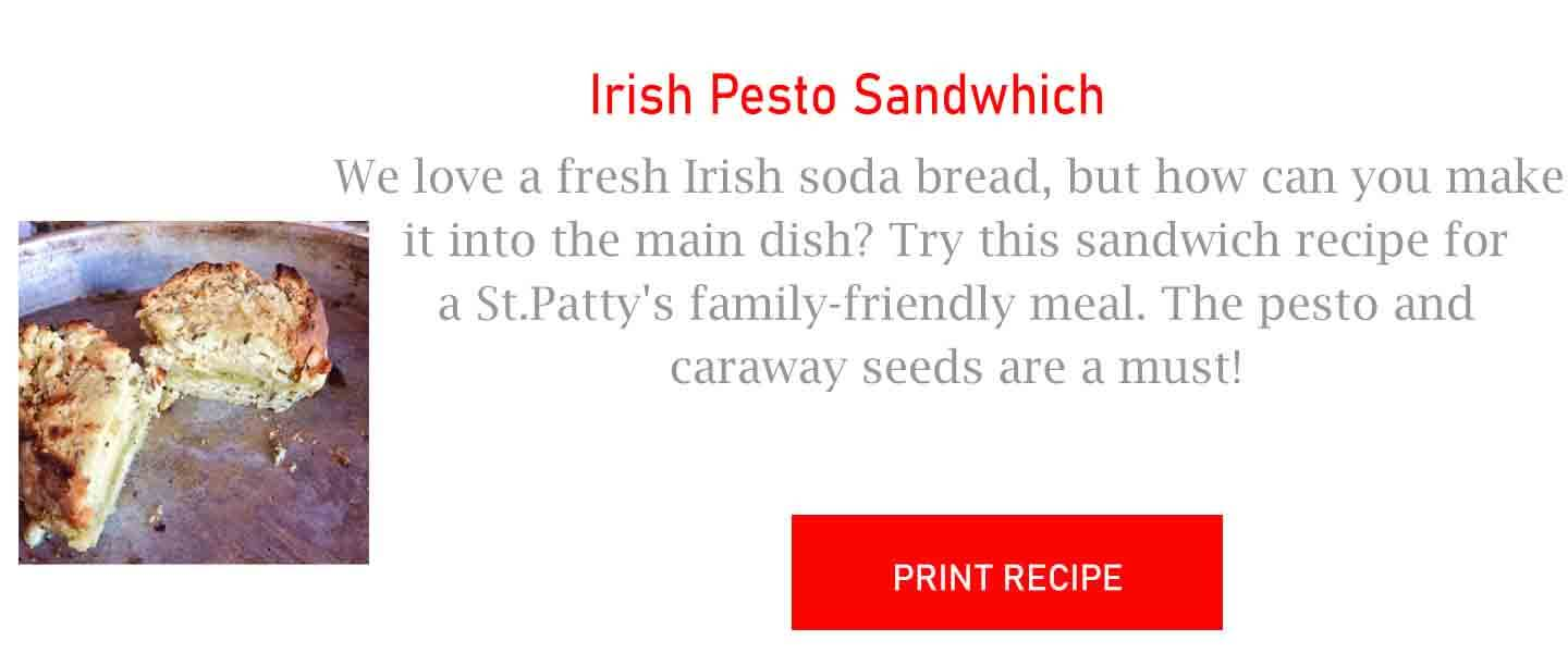 Irish Pesto Sandwhich