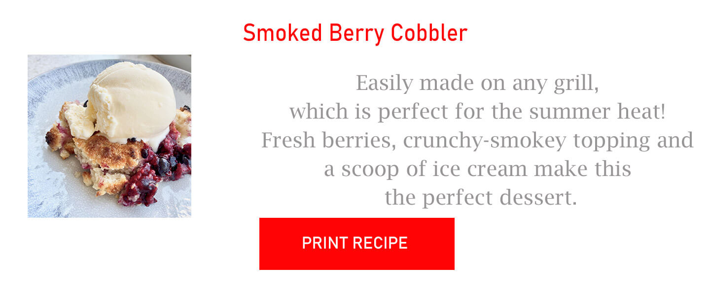Smoked Berry Cobbler
